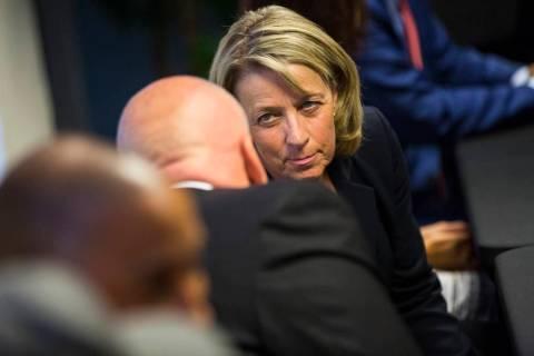 Chase Stevens Las Vegas Review-Journal Nevada Secretary of State Barbara Cegavske attends a ro ...