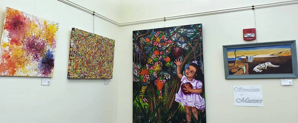 """Pahrump Arts Council """"Simulate the Masters"""" works are on exhibit in the Readers Nook of the Pah ..."""