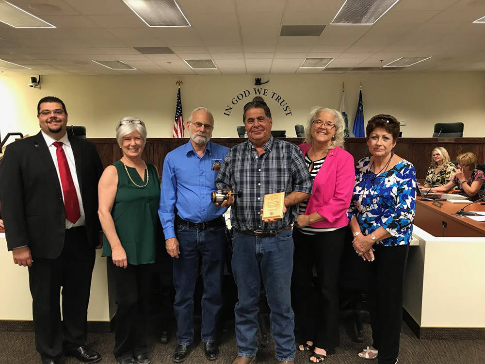 Special to the Pahrump Valley Times From left to right are Nye County Commissioners Leo Blundo, ...
