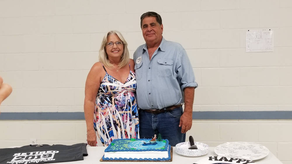 Special to the Pahrump Valley Times Matt Luis poses with a photo with his wife Carolyn during h ...
