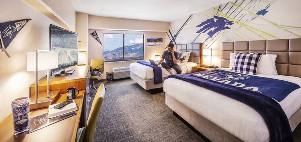 Courtesy of the University of Nevada, Reno This conceptual photo shows what a student room in W ...