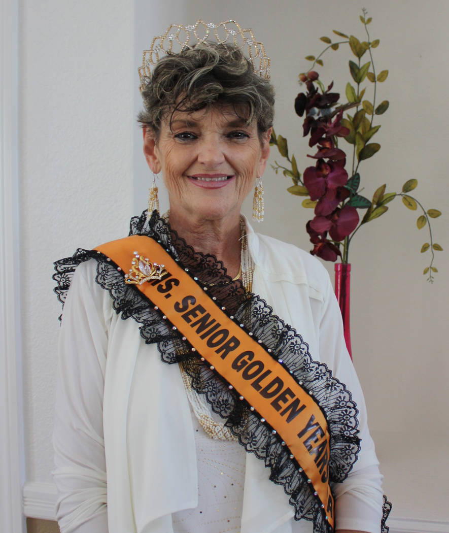 Robin Hebrock/Pahrump Valley Times 2019 Ms. Senior Golden Years Queen Laraine Babbitt.