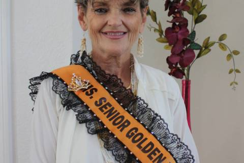 Robin Hebrock/Pahrump Valley Times 2019 Ms. Senior Golden Years Queen Laraine Babbitt.