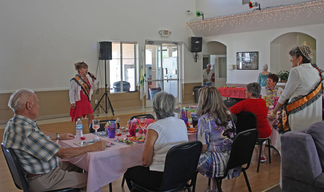 Robin Hebrock/Pahrump Valley Times The ladies of Ms. Senior Golden Years USA came together to h ...