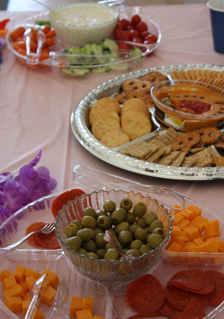 Robin Hebrock/Pahrump Valley Times The Caregivers Retreat included plenty of food for attendees ...