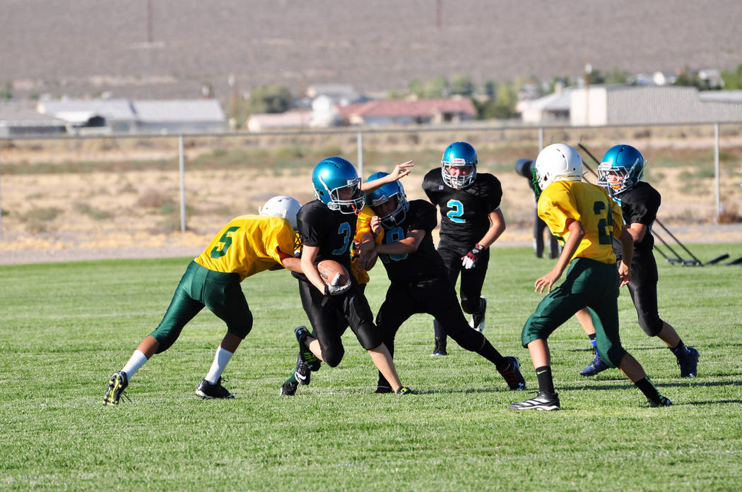 Horace Langford Jr./Pahrump Valley Times The Rosemary Clark Middle School football team during ...