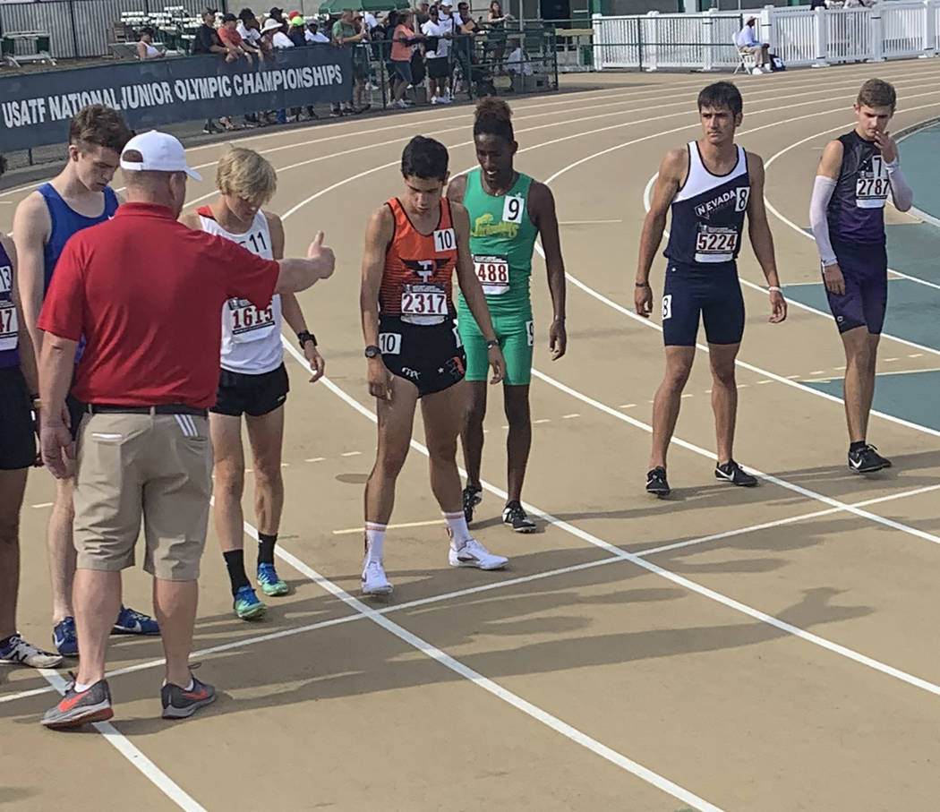 Special to the Pahrump Valley Times Jose Granados of Amargosa, representing Nevada Track Club, ...