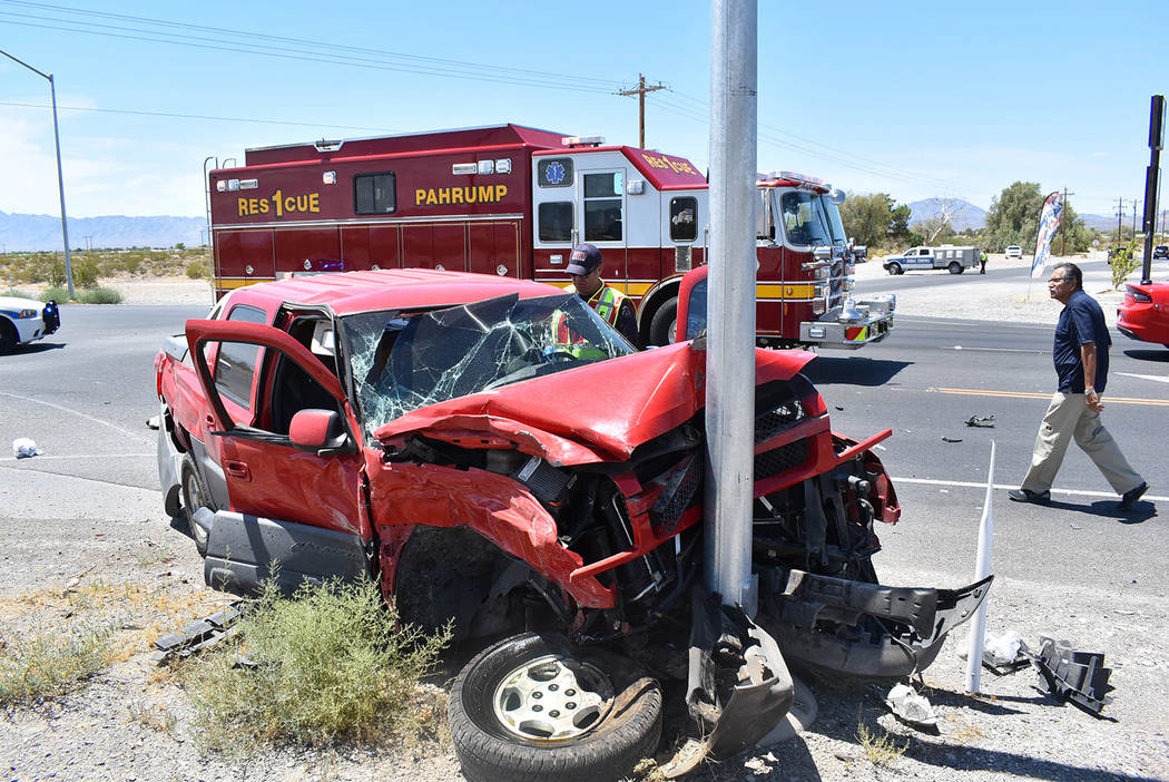 Special to the Pahrump Valley Times One person was flown to UMC Trauma by Mercy Air while three ...