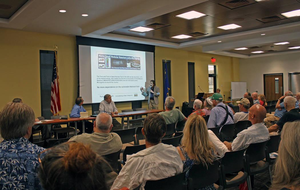 Robin Hebrock/Pahrump Valley Times Marty Waldman of the National Defense Industrial Association ...