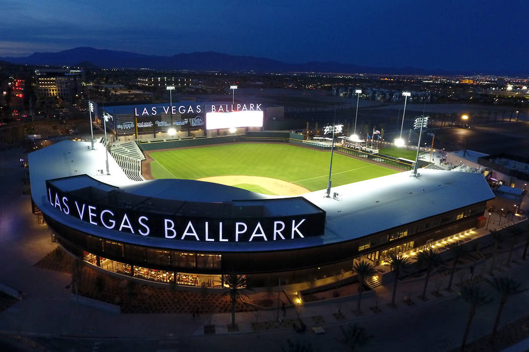 Las Vegas Ballpark in Downtown Summerlin, home of the Las Vegas Aviators Triple-A baseball team ...