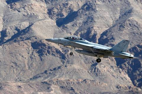 Christian K. Lee/Las Vegas Review-Journal An example of an F/A-18 Super Hornet. This file photo ...