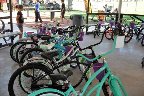 Horace Langford Jr./Pahrump Valley Times A view of several bicycles donated to the Smiles Acro ...