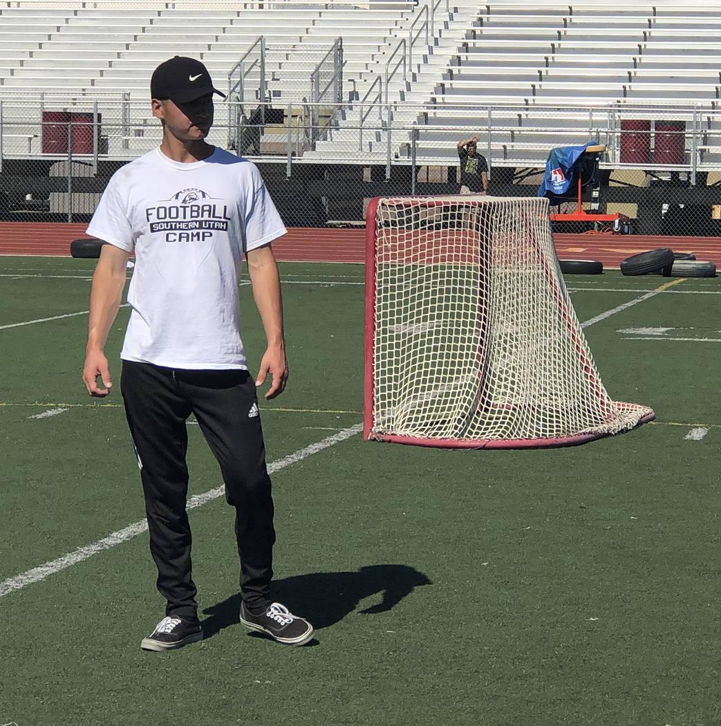 Tom Rysinski/Pahrump Valley Times AJ Segura, who last played for Pahrump Valley High School in ...