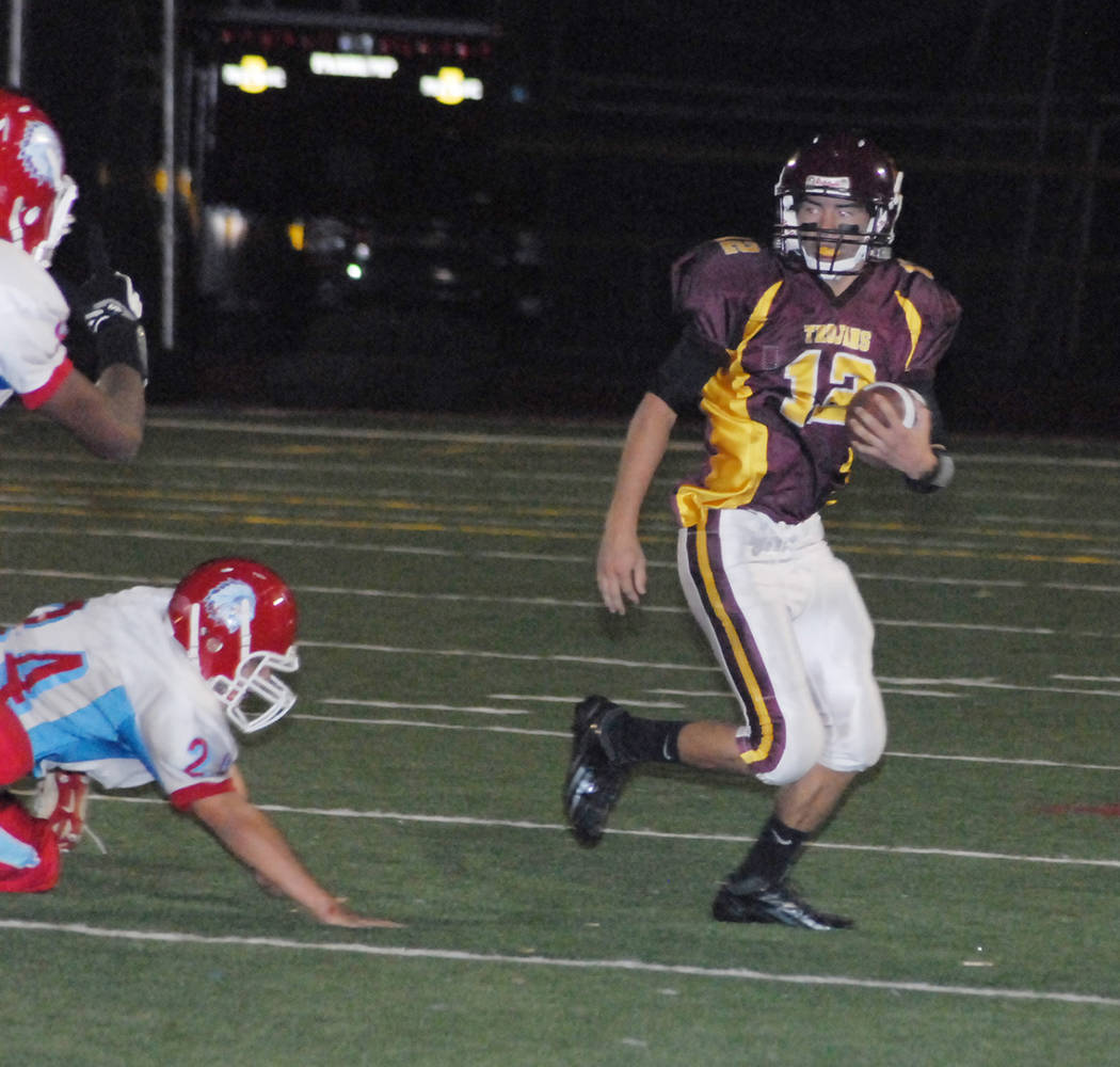 Horace Langford Jr./Pahrump Valley Times During his senior year at Pahrump Valley High School, ...