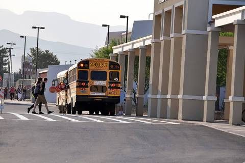 Horace Langford Jr./Pahrump Valley Times Students in the Nye County School District will head b ...
