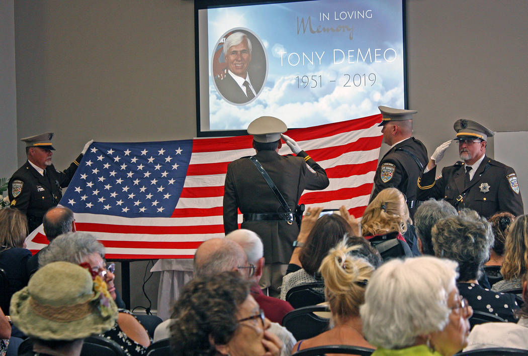 Robin Hebrock/Pahrump Valley Times The Nye County Sheriff's Office Honor Guard performed a flag ...