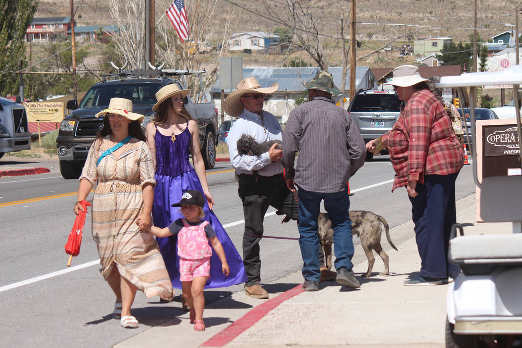 Jeffrey Meehan/Times-Bonanza and Goldfield News Individuals walked around Goldfield dressed in ...
