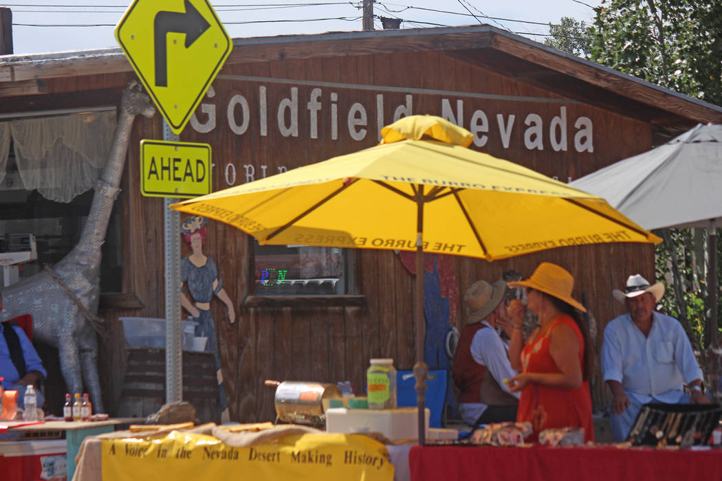 Jeffrey Meehan/Times-Bonanza and Goldfield News Vendors set up throughout the town of Goldfiel ...