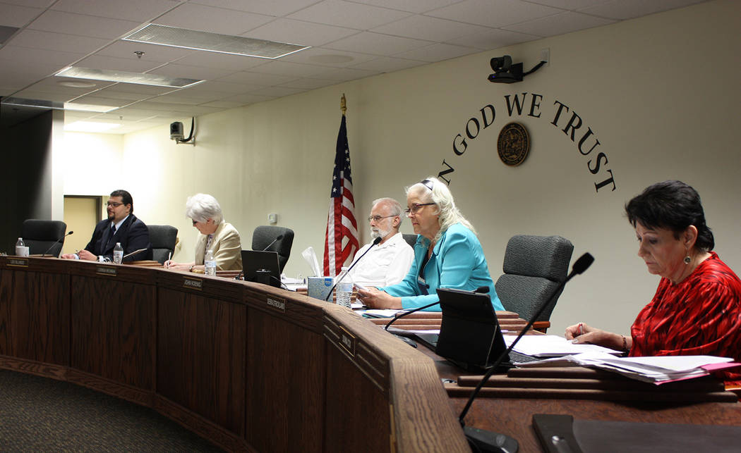 Robin Hebrock/Pahrump Valley Times The Nye County Commission recently discussed a possible chan ...
