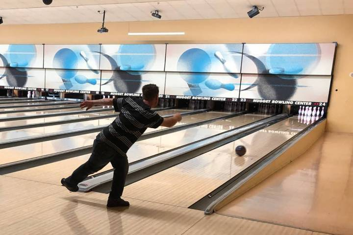 Tom Rysinski/Pahrump Valley Times Anthony Matassa shows off the form that allowed him to roll h ...