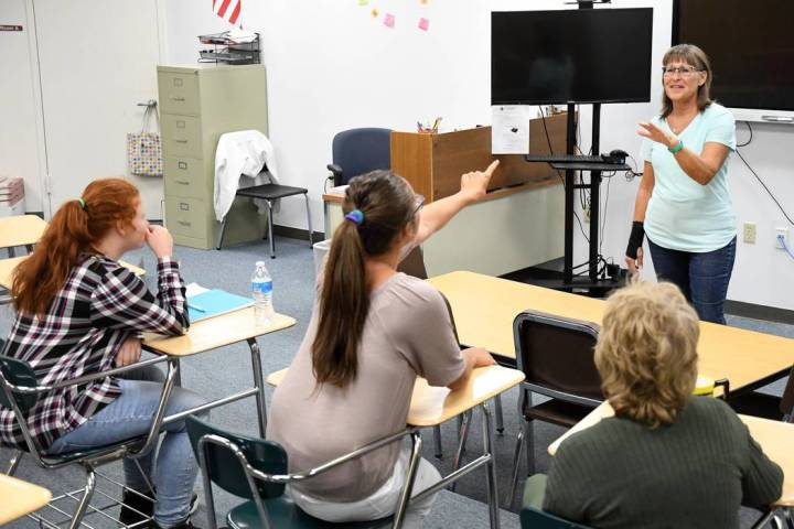 Richard Stephens/Special to the Pahrump Valley Times Lorraine Gjefle is shown teaching a health ...