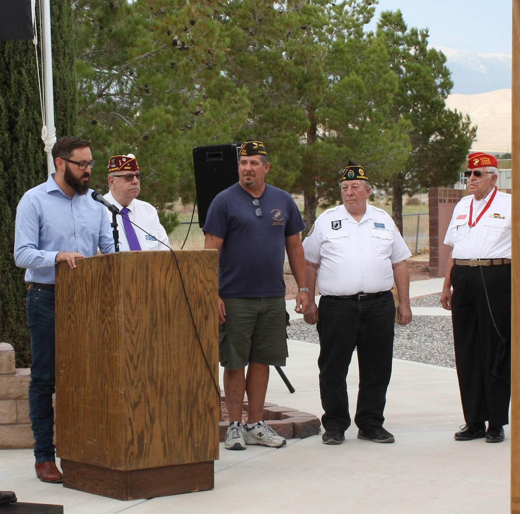 Robin Hebrock/Pahrump Valley Times From left to right are Nevada Assemblyman Greg Hafen II, DAV ...