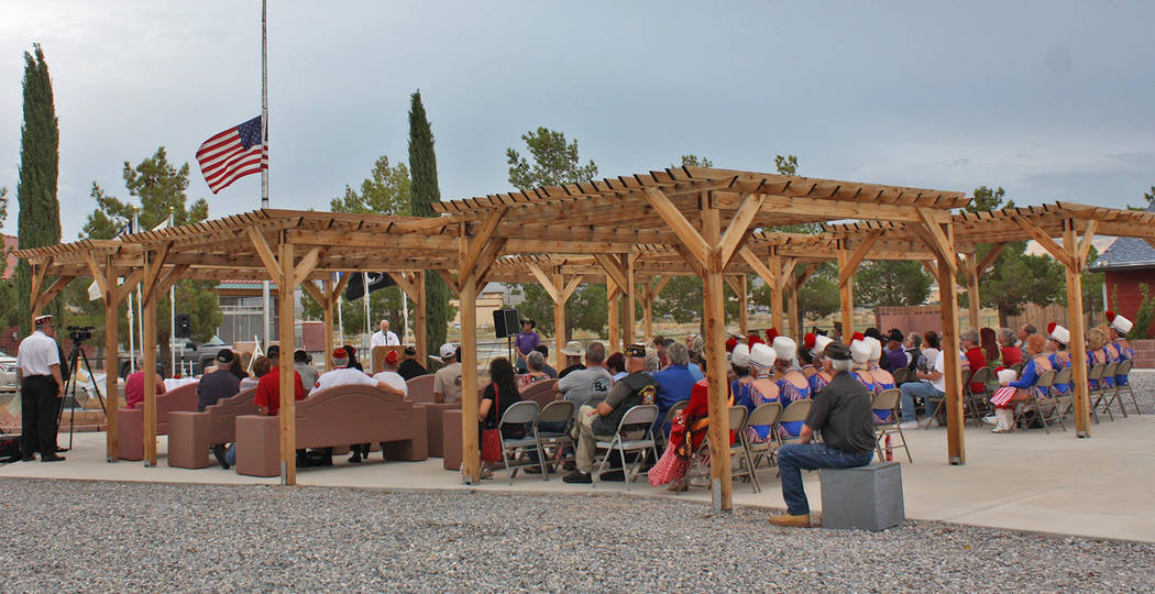 Robin Hebrock/Pahrump Valley Times The Veterans Memorial in Pahrump was the venue for the 3rd A ...