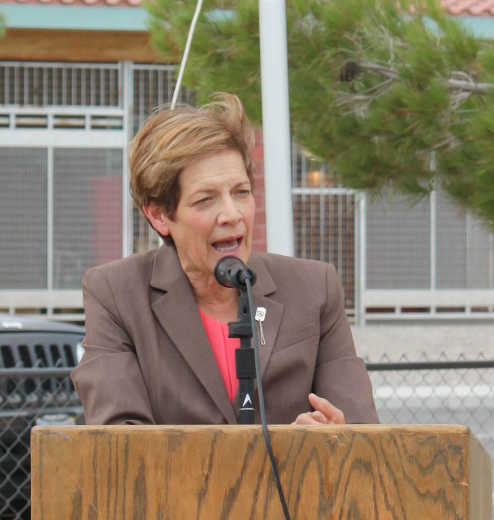 Robin Hebrock/Pahrump Valley Times Nevada Department of Veterans Services Director Kat Miller w ...
