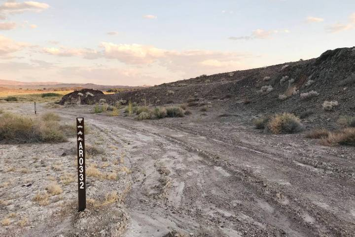 Robin Flinchum/Special to the Pahrump Valley Times A look at markers in question as shown in on ...