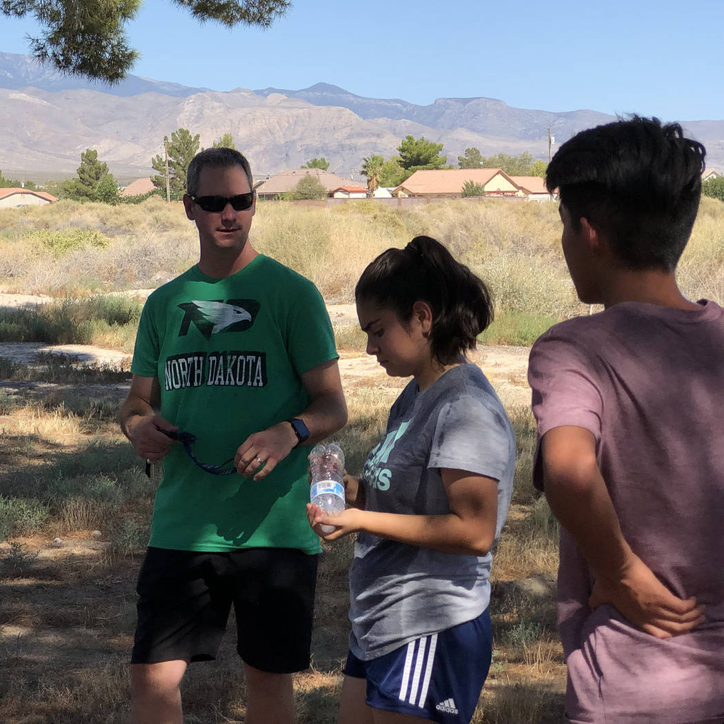 Tom Rysinski/Pahrump Valley Times Pahrump Valley High School cross country coach Erik Odegard, ...