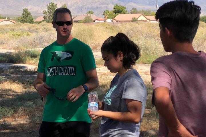 Tom Rysinski/Pahrump Valley Times Pahrump Valley High School cross country coach Erik Odegard, ...