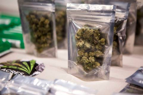 Las Vegas Review-Journa Marijuana displayed at a dispensary in Southern Nevada as shown in a fi ...