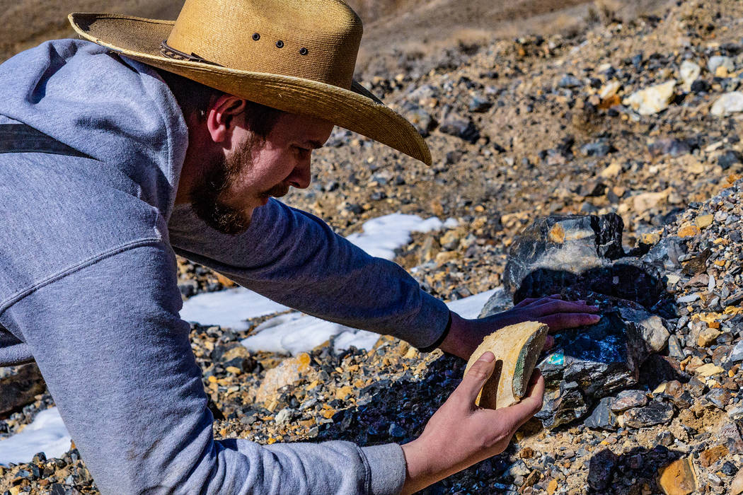 Tristan Otteson is a student of the science behind turquoise formation. (INSP)
