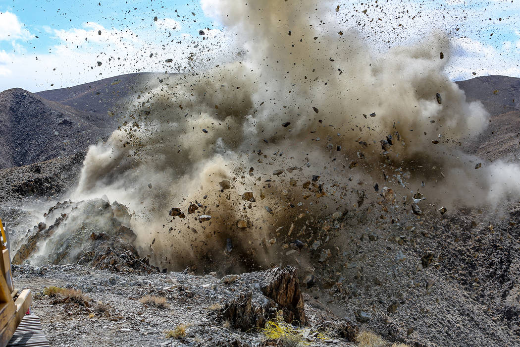 Using explosives to blast open hillsides is a tricky, nuanced endeavor. (INSP)