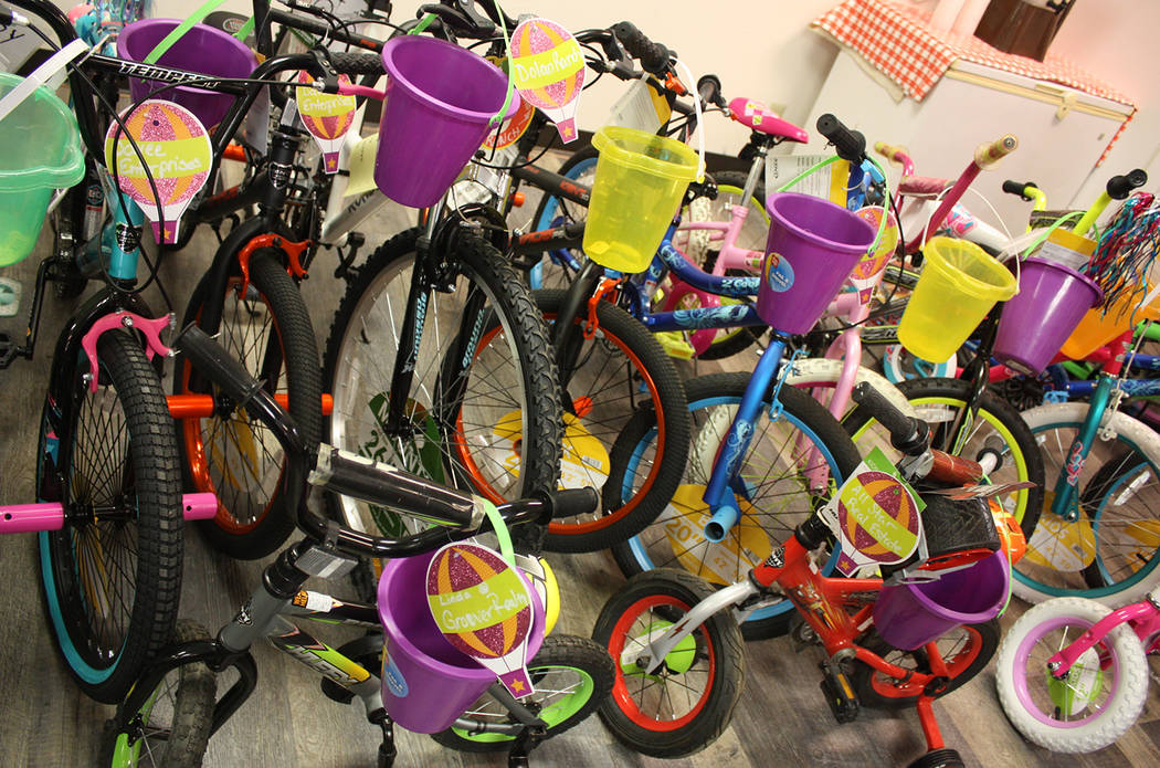 Robin Hebrock/Pahrump Valley Times Approximately 30 bicycles were donated to the Smiles Across ...