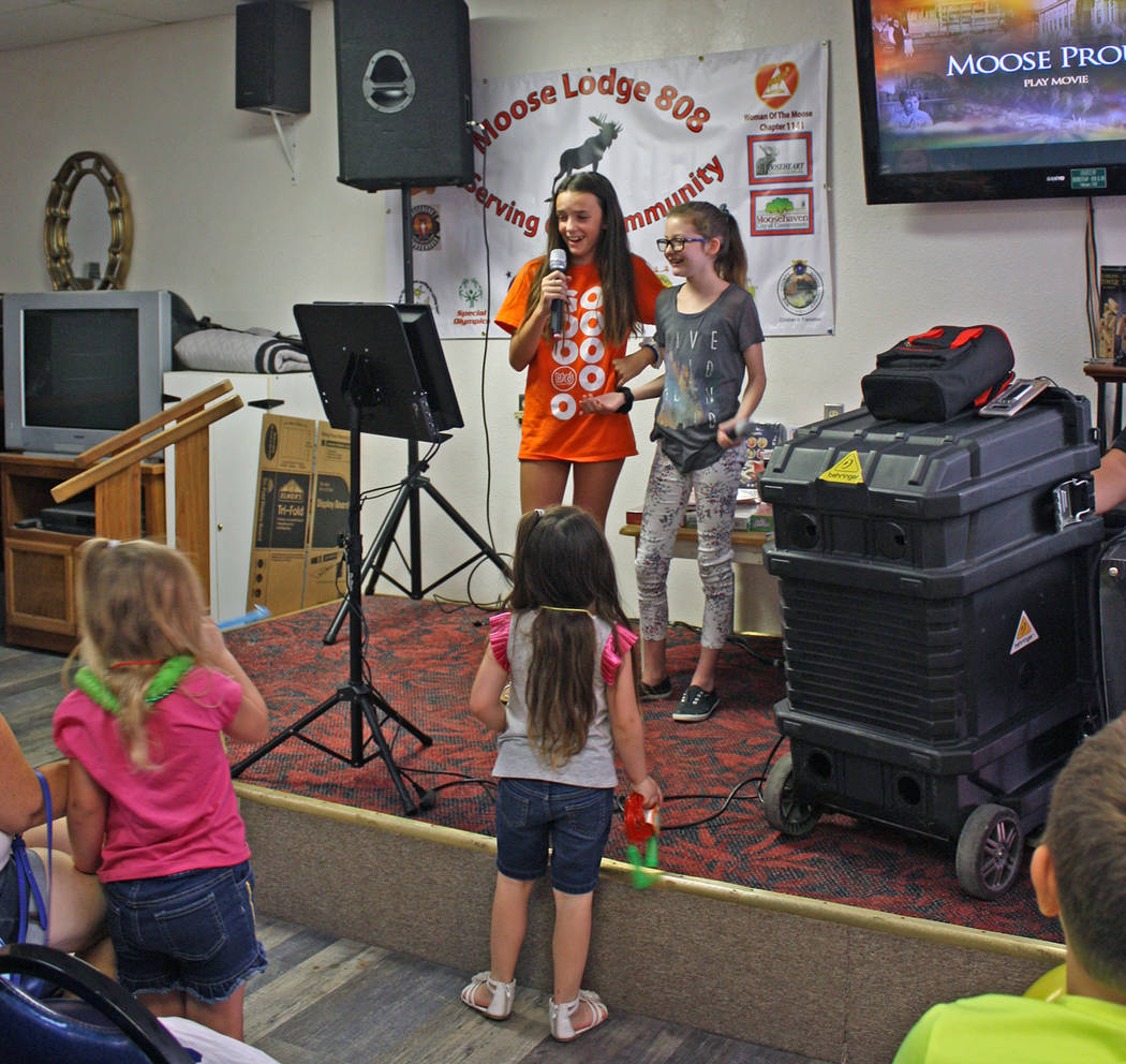 Robin Hebrock/Pahrump Valley Times Youth were able to take the spotlight at the Smiles Across P ...