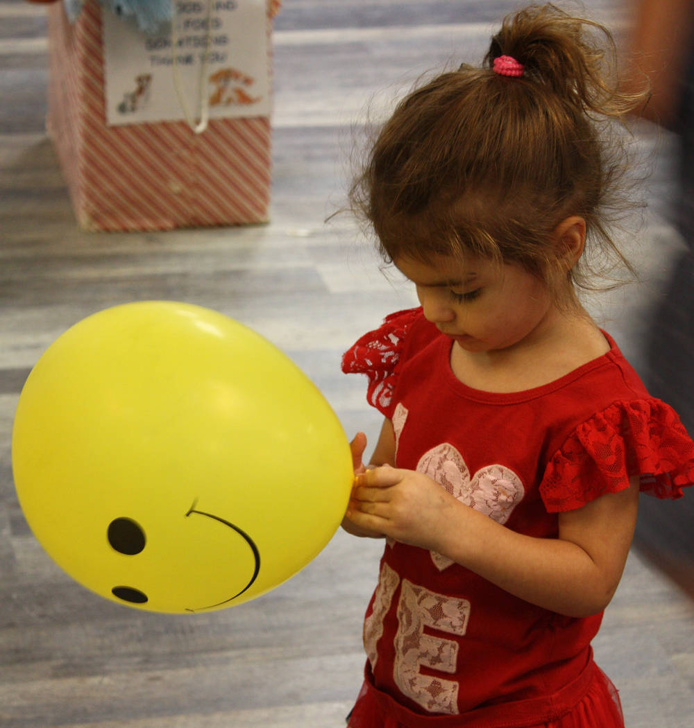 Robin Hebrock/Pahrump Valley Times The Moose Lodge was filled with bright yellow balloons embla ...
