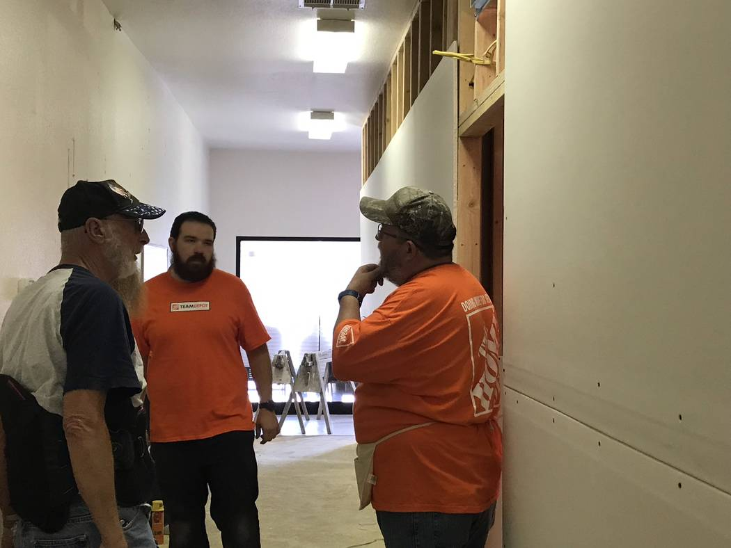 Jeffrey Meehan/Pahrump Valley Times More than three dozen volunteers from the community and fro ...