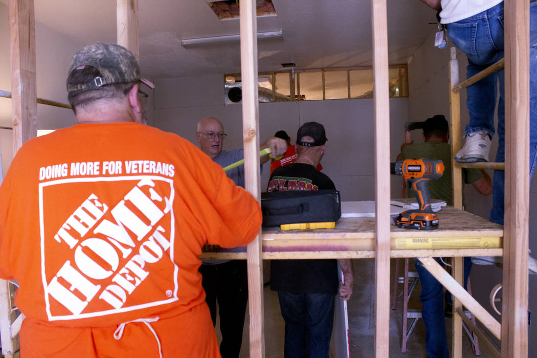 Jeffrey Meehan/Pahrump Valley Times The Home Depot Foundation services 35,000 veterans and has ...