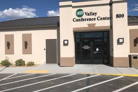 Jeffrey Meehan/Pahrump Valley Times Valley Electric Association's conference center housed a to ...