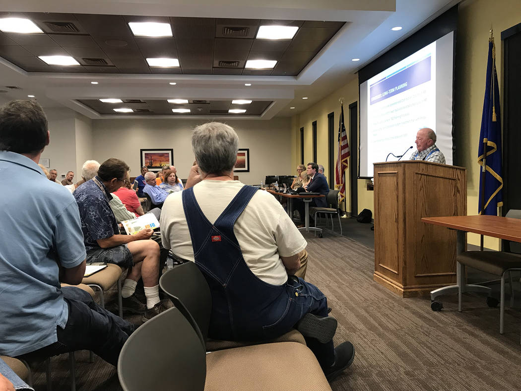 Jeffrey Meehan/Pahrump Valley Times Dozens of member-owners and members of the public attended ...