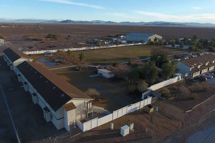 Aerial photo of Northwest Academy, a private boarding school in Amargosa Valley on Friday, Febr ...