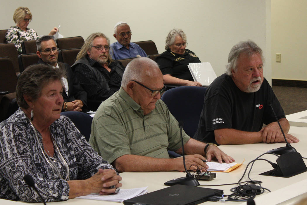 Robin Hebrock/Pahrump Valley Times From left to right are Charlotte LeVar, John Bosta and Denni ...