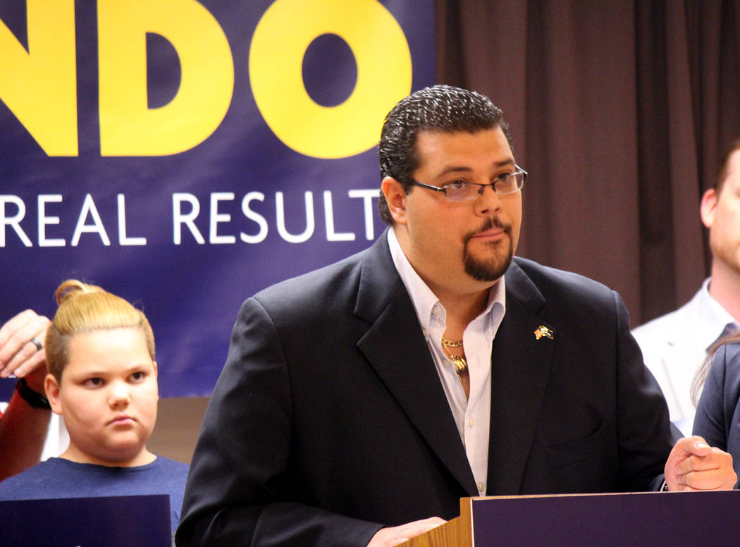 Jeffrey Meehan/Pahrump Valley Times Nye County Commissioner Leo Blundo announced his run for Ne ...