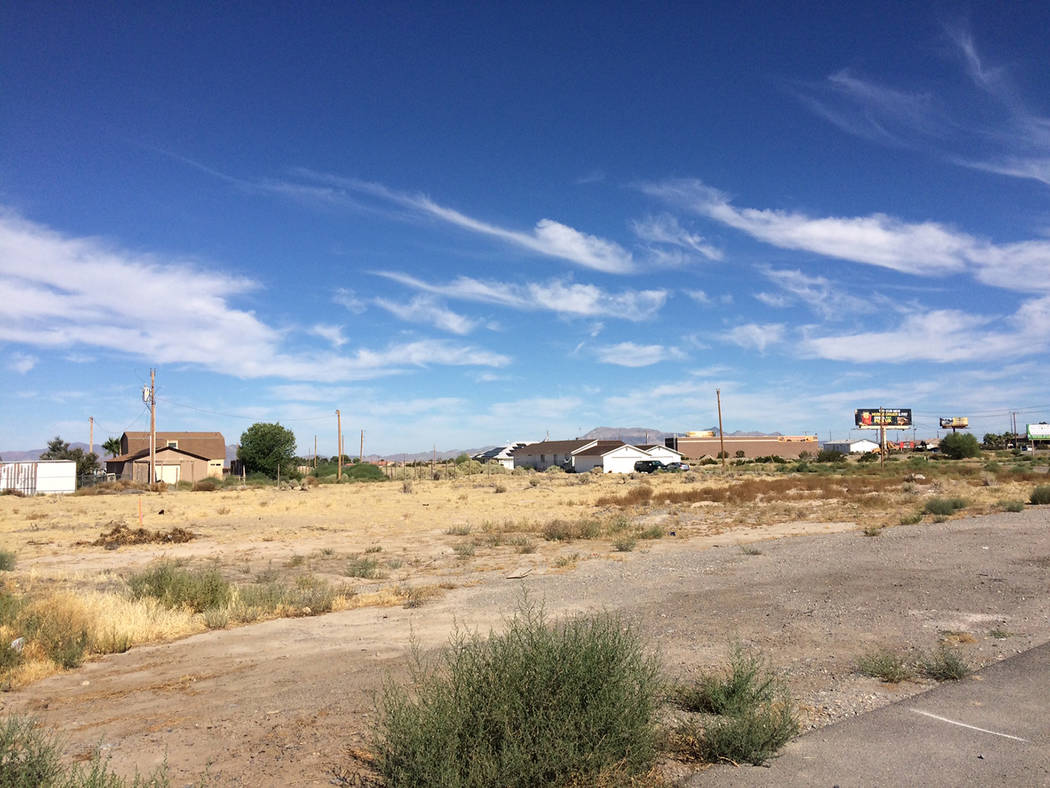 Robin Hebrock/Pahrump Valley Times Pictured is the site on which Nevada Organic Remedies propos ...