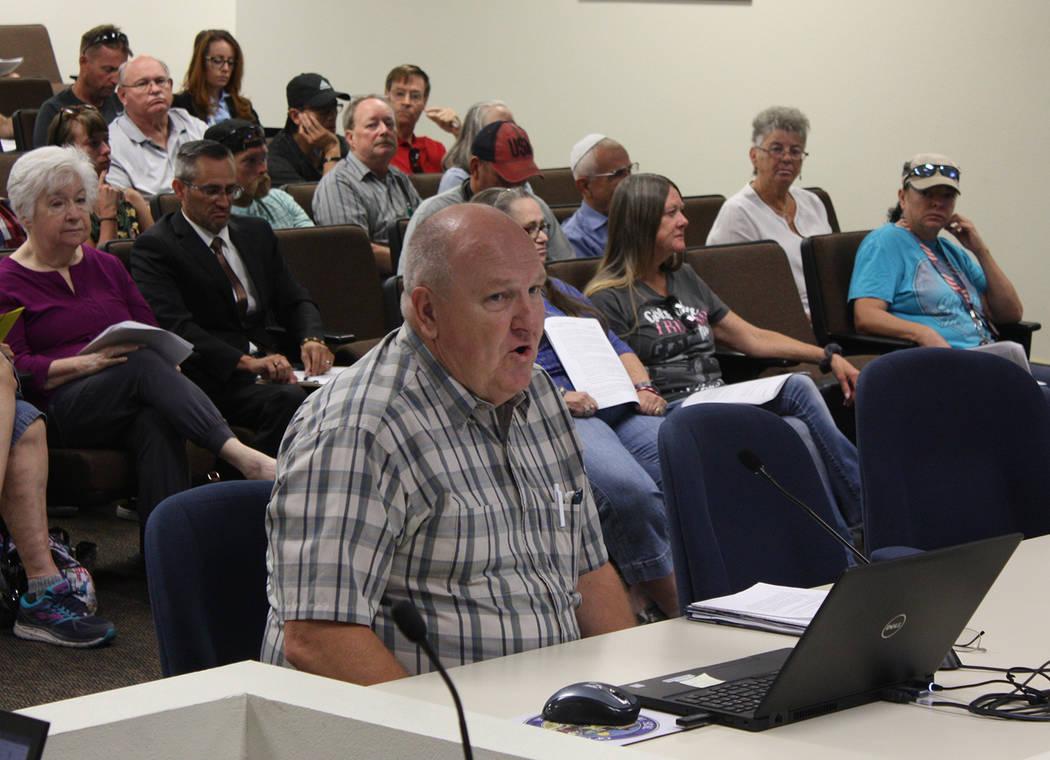 Robin Hebrock/Pahrump Valley Times U.S. Census Bureau Partnership Specialist Glen Marsh is pict ...