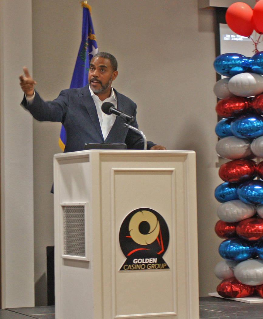 Robin Hebrock/Pahrump Valley Times Nevada Congressman Steven Horsford, who represents the fourt ...
