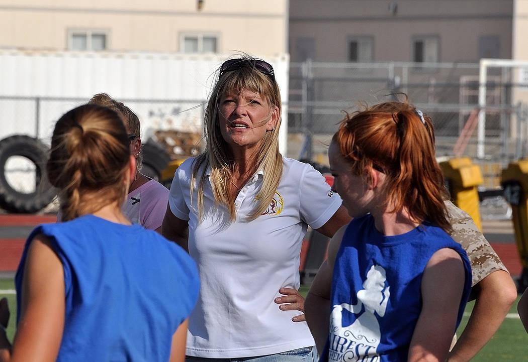 Horace Langford Jr./Pahrump Valley Times Pahrump Valley girls soccer coach Julie Carrington's T ...