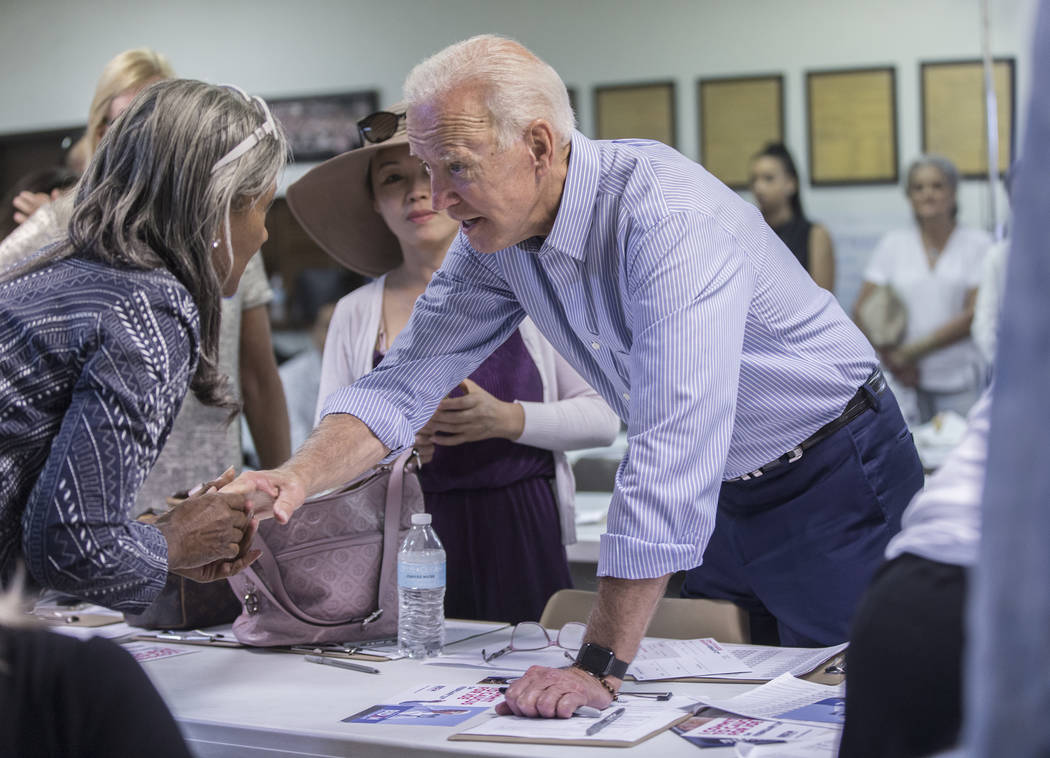 Benjamin Hager/Las Vegas Review-Journal Some Democrats, such as Joe Biden, are pushing an alter ...