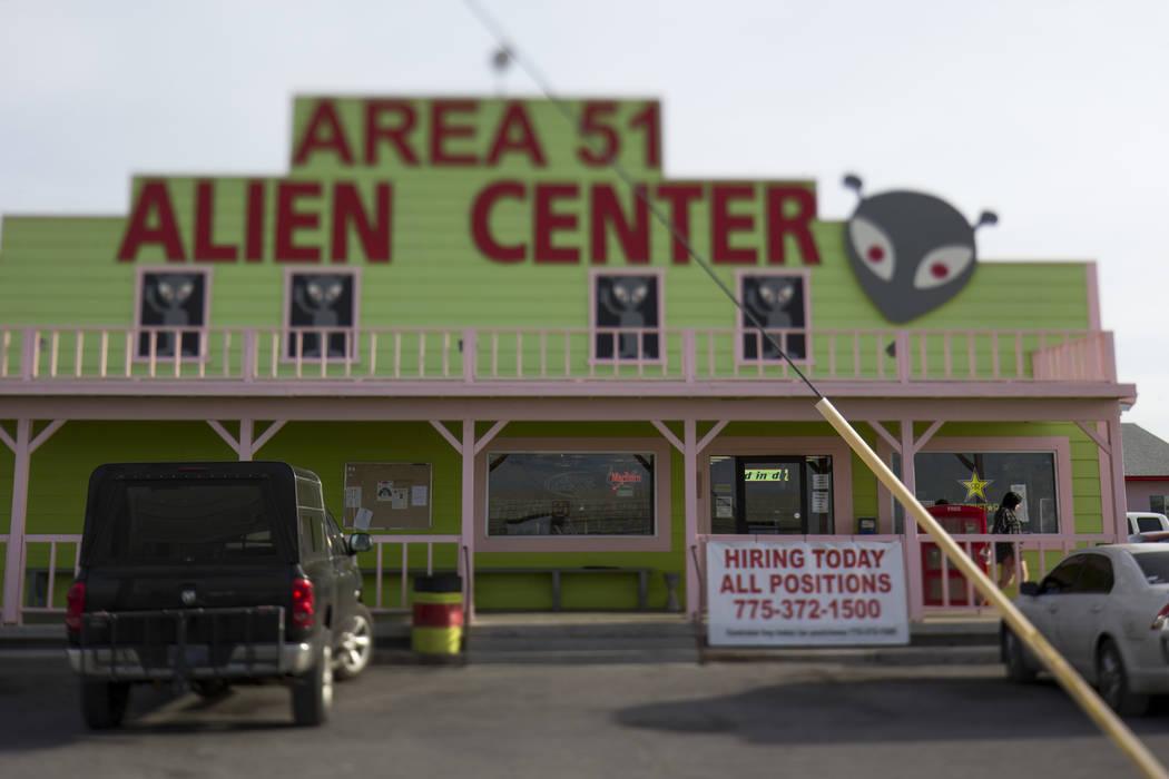 Richard Brian Las Vegas Review-Journal The Area 51 Alien Center in Amargosa Valley was the ori ...